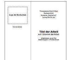 Titelblattmuster Das Deckblatt Einer Seminararbeit Das Deckblatt